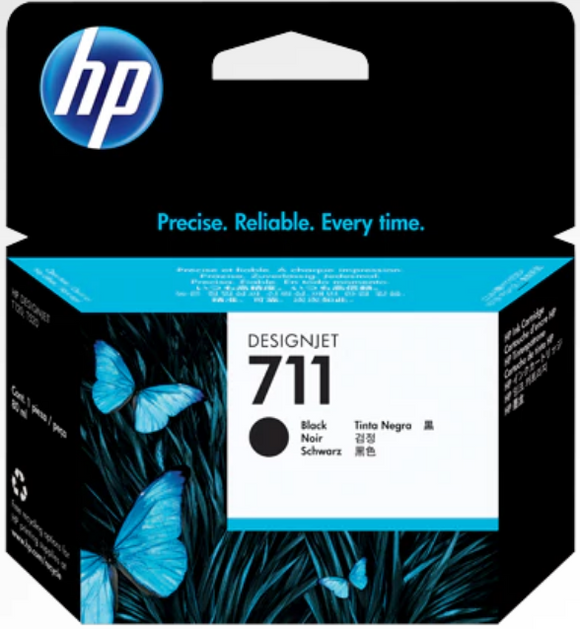 HP 711 38-ml Genuine OEM Original Black Ink Cartridge (CZ129A)