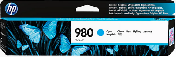 HP 980 Genuine OEM Original Cyan Ink Cartridge (D8J07A)