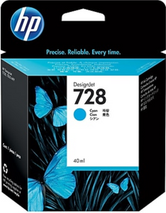 HP 728 40-ml Genuine OEM Original Cyan DesignJet Ink Cartridge (F9J63A)