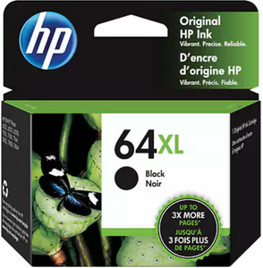 HP 64XL (N9J92AN) Genuine OEM Original Black Ink Cartridge
