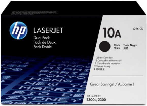 Genuine OEM HP Laserjet 10A (Q2610A) Toner / Genuine OEM HP Laserjet 2300 Toner Cartridge