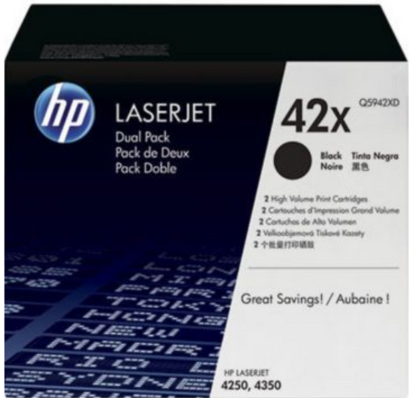 Genuine OEM HP Laserjet 42X (Q5942X) High Yield Toner / Genuine OEM HP Laserjet 4240 Toner Cartridge