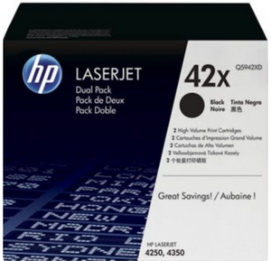 Genuine OEM HP Laserjet 42X (Q5942X) High Yield Toner / Genuine OEM HP Laserjet 4350 Toner Cartridge