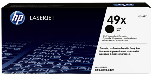 Genuine OEM HP Laserjet 49X (Q5949X) High Yield Toner / Genuine OEM HP Laserjet 3390 Toner Cartridge
