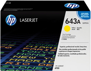 Genuine OEM HP Laserjet 643A (Q5952A) Yellow Toner / Genuine OEM HP Color Laserjet 4700 Toner Cartridge
