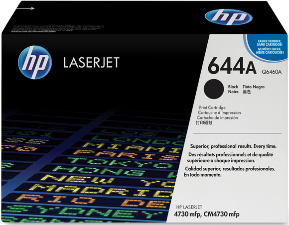 Genuine OEM HP Laserjet 644A (Q6460A) Black Toner / Genuine OEM HP Color Laserjet CM4730 Toner Cartridge