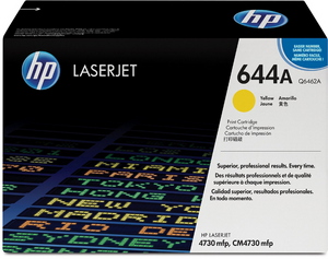 Genuine OEM HP Laserjet 644A (Q6462A) Yellow Toner / Genuine OEM HP Color Laserjet CM4730 Toner Cartridge