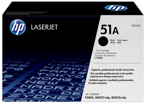 Genuine OEM HP Laserjet 51A (Q7551A) Toner / Genuine OEM HP Color Laserjet M3035 Toner Cartridge