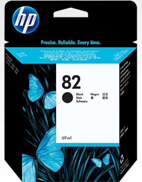 HP 82 Genuine OEM Original Black Ink Cartridge (CH565A)