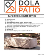 Patio Table Cover Rectangle 122-59-31.5-Inches