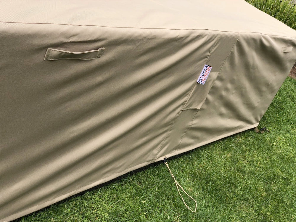 Patio Sectional Cover Large 98-126-27-Inches Beige Rainproof