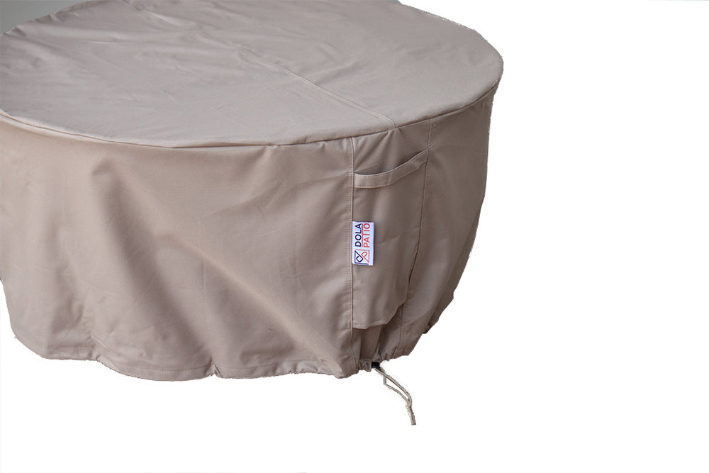 "Central Air Conditioner Cover Round Waterproof 34"" With Tightening Straps & Handles"