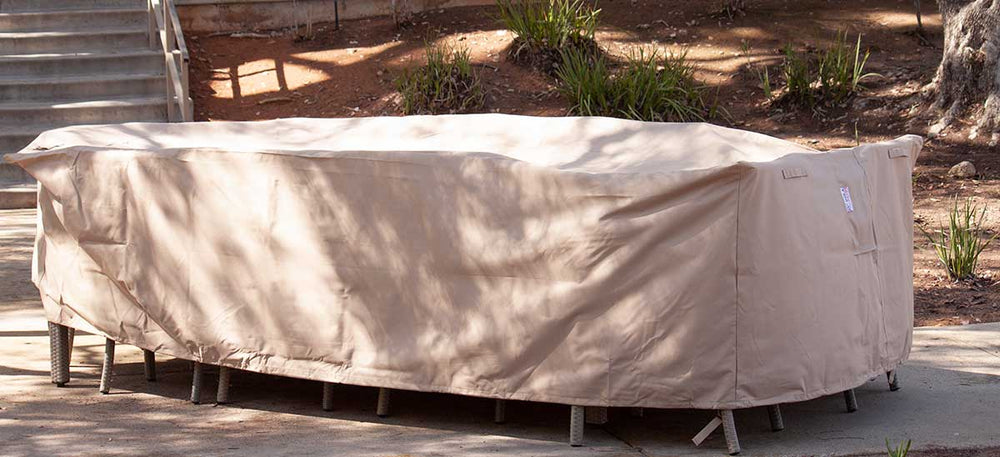 Extra Large Outdoor Dining Covers Rectangle Waterproof 122 Inches