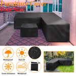 Outdoor Sectional Furniture Covers Black L Shape Heavy Duty