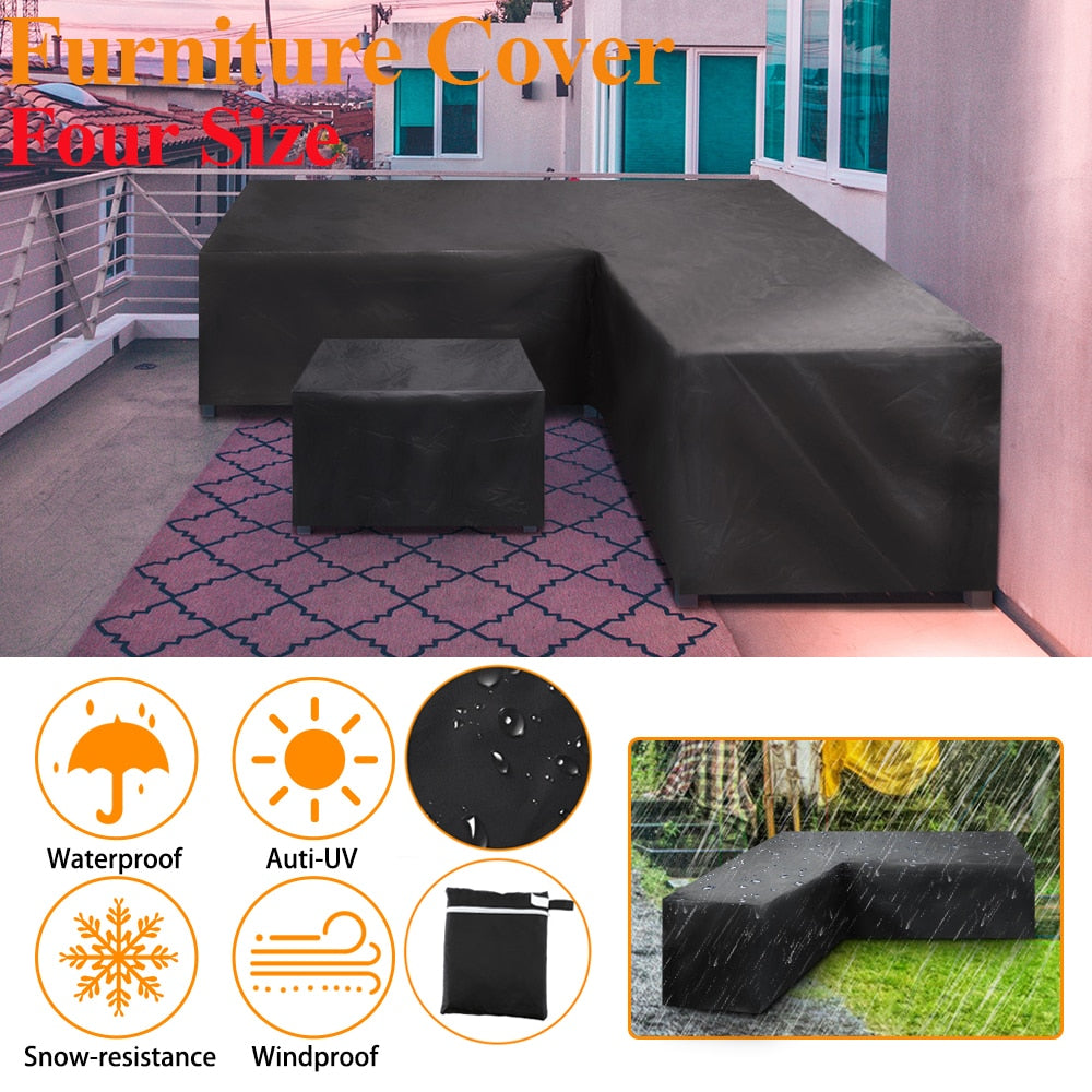 "Patio L Shape Sectional Cover All-Purpose Protection 118"" x 118"" x 38"""