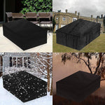Waterproof outdoor furniture cover black oxford polyester 420D fabric
