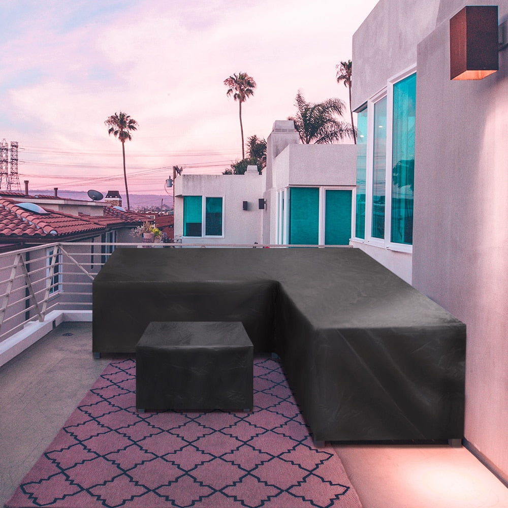 outdoor black patio sectional cover