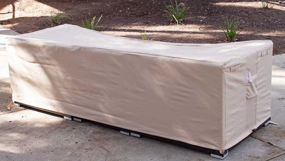 Outdoor Sofa Cover Rectangle 98-35-27-Inches Beige Waterproof