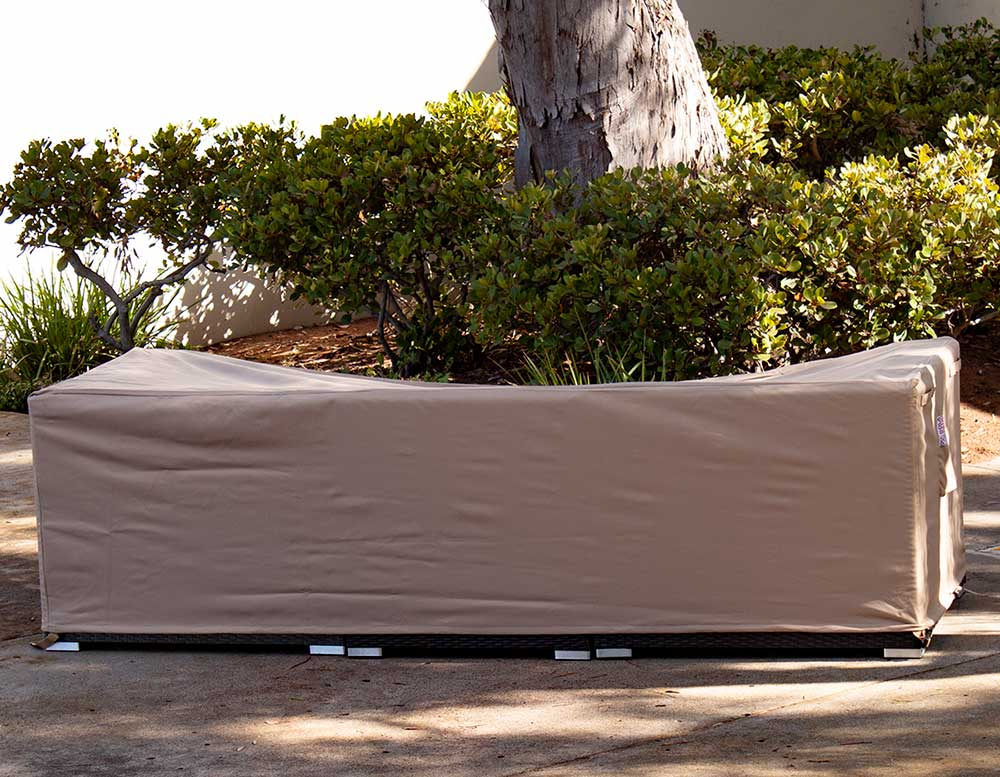 Outdoor Love Seat Cover Rectangle 62-37-27-Inches Beige Waterproof