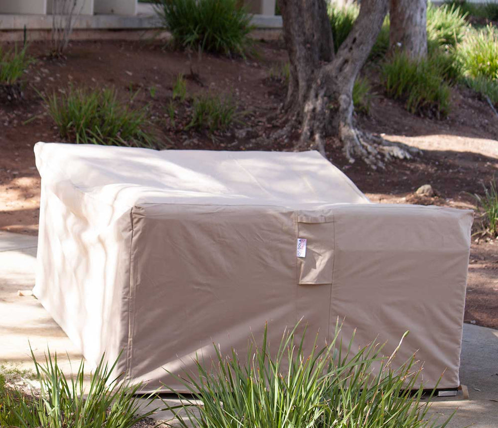 Patio Sofa Cover Rectangle 85 Inches Waterproof Beige