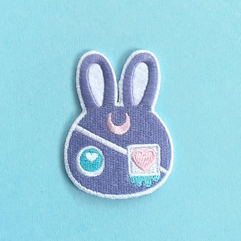 Moon Bunny - Iron on Patch