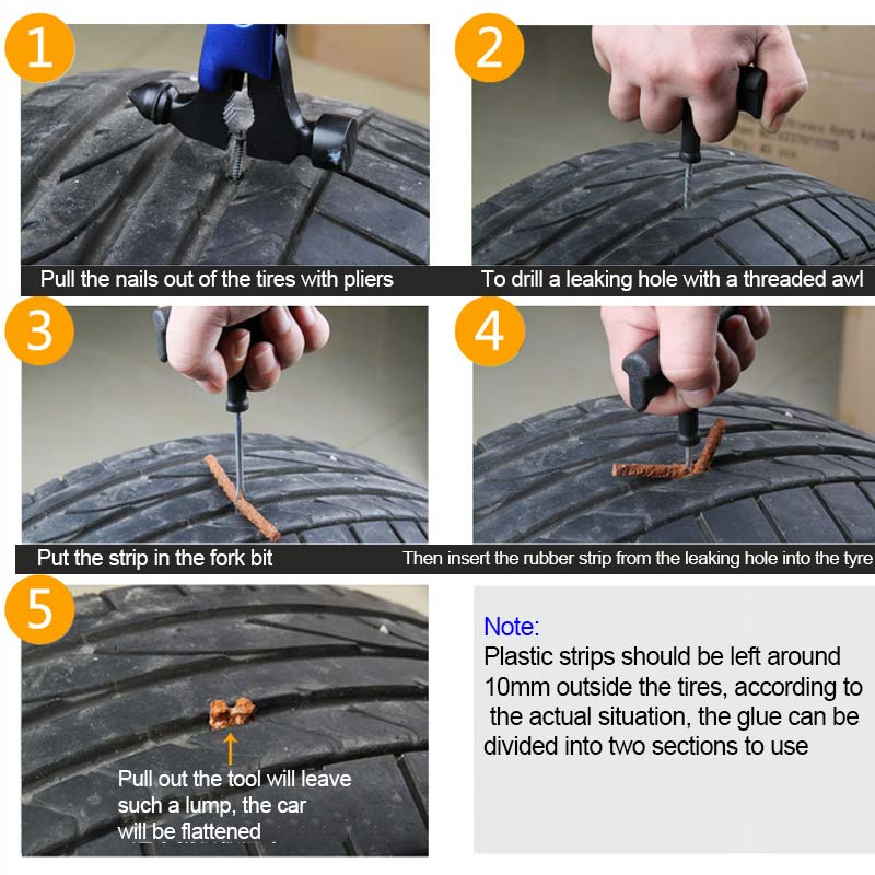Hasil gambar untuk how to use tire repair kit