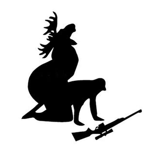 13*12CM Elk Hunter Personalized Car Stickers Decals How Ya Like My Meat Now Funny Moose Hunting Hunter Black/Silver CT-600 - Hammond Auto