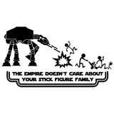 20cm*10.9cm Funny Star Wars STICK FIGURE FAMILY Car-styling Car Stickers Decals Vinyl S6-3728 - Hammond Auto