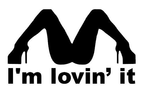 I'M LOVIN' IT VINYL STICKER