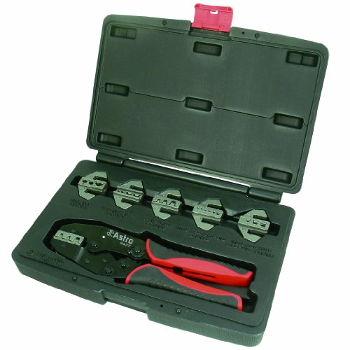 Astro 9477 Professional Quick Interchangeable Ratchet Crimping Tool Set, 7-Piece