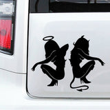 Sexy Women Angel and Demon Stickers/Decal