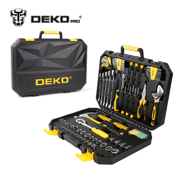 128 Pcs Hand Tool Set with Plastic Storage Case