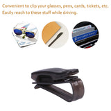 Clip-on Car Visor Glasses/Sunglasses Holder