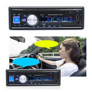 Car Stereo with Remote Control Bluetooth/Phone AUX/MP3/FM/USB/1 Din