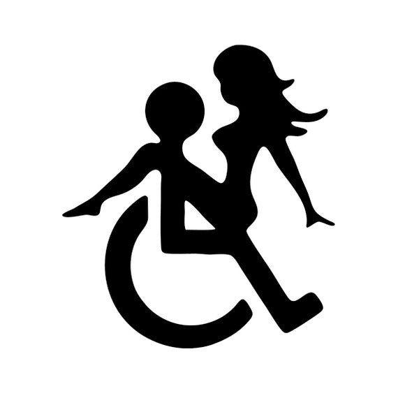 WHEELCHAIR SEX  Vinyl Decals/Car Stickers