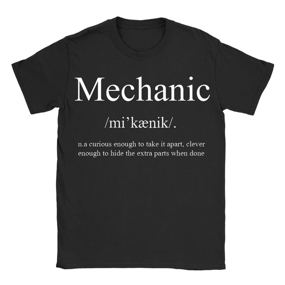 Mechanic Mens T-Shirt - Funny Definition