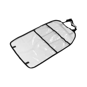 "Waterproof Car Seat Back Cover Protector Organizer Storage Bag Transparent Kick Mat for Kids 15*24"" - Hammond Auto"