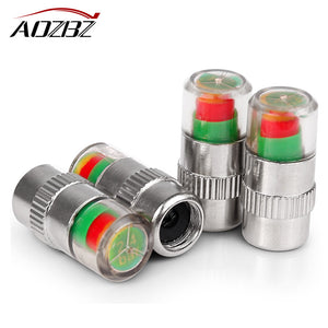 AOZBZ 4PCS Air Warning Alert Tire Valve Sensor Indicators