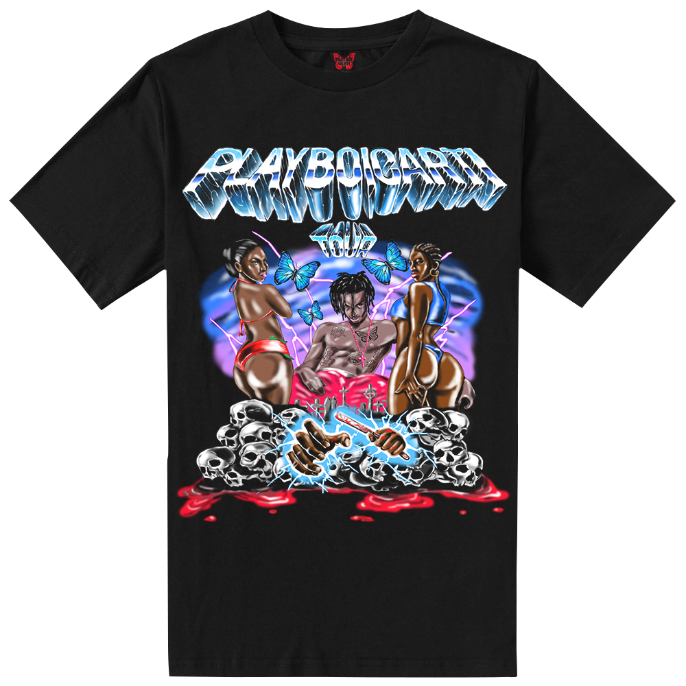 Playboi Carti Airbrush Tour Tee