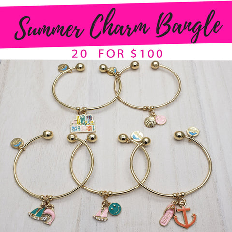20 Summer Charm Bangles  ($5.00 ea) for $100