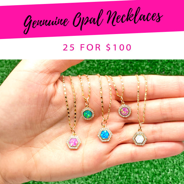 25 Genuine Opal Necklaces ($4.00 each) for $100
