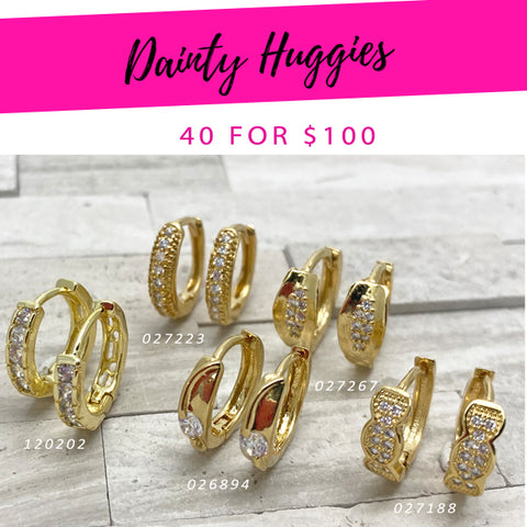 40 Dainty Huggies ($2.50 each) for $100