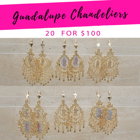 20 Guadalupe Chandelier Earrings ($5.00 each) for $100 Gold Layered