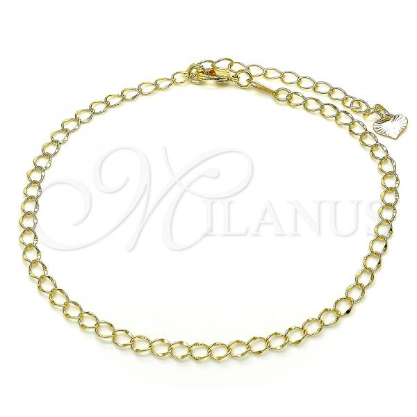 Gold Layered 03.318.0013.10 Fancy Anklet, Polished Finish, Golden Tone