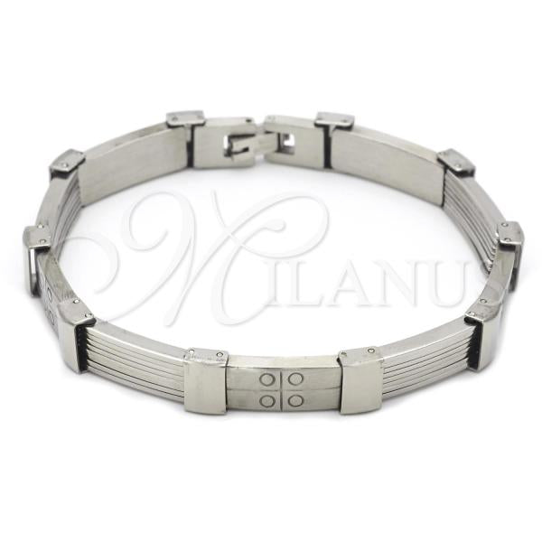Stainless Steel 03.63.1603.08 Solid Bracelet, Polished Finish, Steel Tone