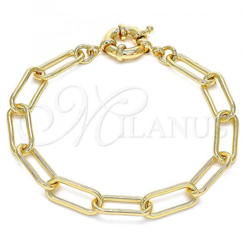 Gold Layered 03.378.0001.07 Basic Bracelet, Polished Finish, Golden Tone
