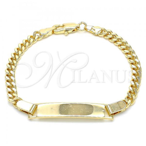 Gold Layered 03.63.2088.06 ID Bracelet, Polished Finish, Golden Tone