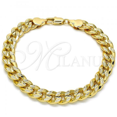 Gold Layered 04.213.0153.08 Basic Bracelet, Polished Finish, Golden Tone