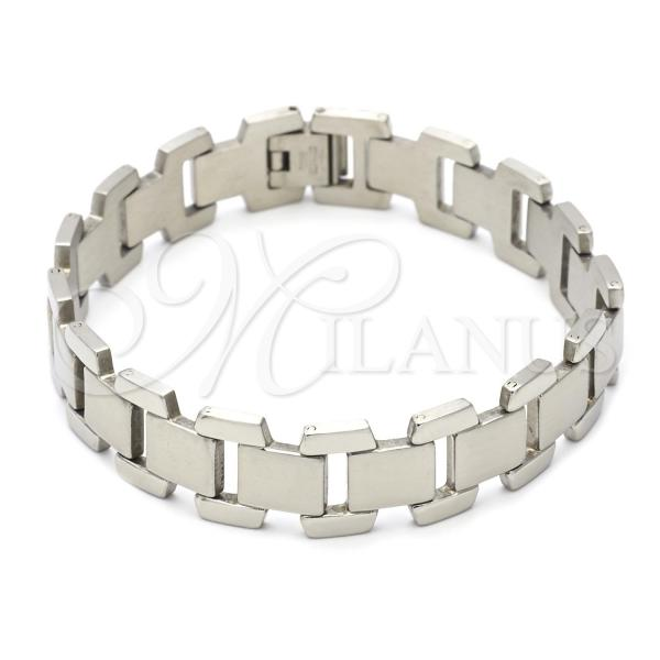 Stainless Steel 03.63.1574.08 Solid Bracelet, Polished Finish, Steel Tone