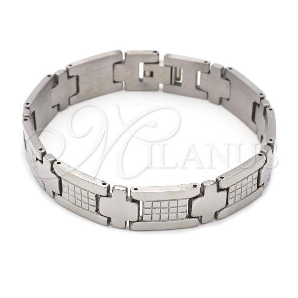Stainless Steel 03.63.1579.08 Solid Bracelet, Polished Finish, Steel Tone